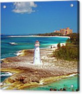 Lighthouse On Paradise Island-nassau Acrylic Print