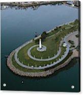 Lighthouse On The Coast, Long Beach Acrylic Print