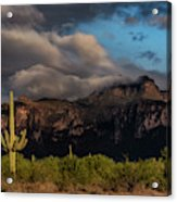Light Play On The Superstitions  Acrylic Print