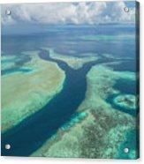 Limestone Reefs And Channels Acrylic Print