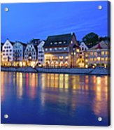 Limmat River Waterfront In Downtown Acrylic Print