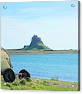 Lindisfarne Castle And Bay Acrylic Print