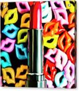 Lipstick Lips Acrylic Print