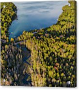 Litte Traverse Lake Vertical Panorama Acrylic Print