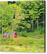 Little Red House Acrylic Print