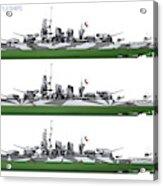 Littorio Class Battleships Port Side Acrylic Print
