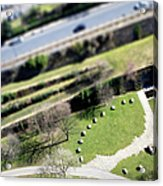 Liverpool From Above, Tilt-shift Lens Acrylic Print