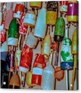 Lobster Buoys Acrylic Print