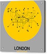 London Yellow Subway Map Acrylic Print