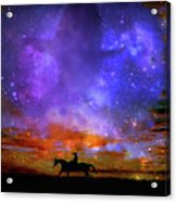 Lone Rider Acrylic Print