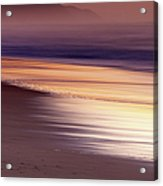 Long Exposure Of Water At Dawn With Acrylic Print