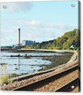 Longgannet Power Station And Railway Acrylic Print