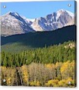 Longs Peak In The Fall Acrylic Print