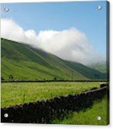 looking down Ettrick valley in Selkirkshire in summer Acrylic Print