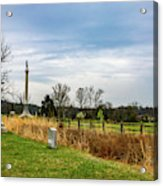 Looking Down The Union Line Acrylic Print