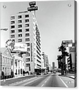 Looking East On Wilshire Boulevard Acrylic Print