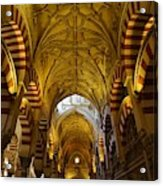 Looking Up Within The Cordoba Mezquita Acrylic Print