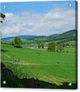 looking westwards in Tweed valley Acrylic Print