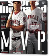 Los Angeles Angels Of Anaheim Mike Trout And Shohei Ohtani Sports Illustrated Cover Acrylic Print