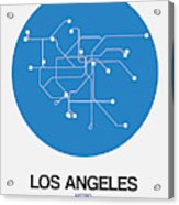 San Francisco Blue Subway Map Acrylic Print