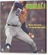 Los Angeles Dodgers Fernando Valenzuela... Sports Illustrated Cover Acrylic Print