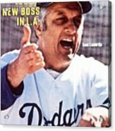 Los Angeles Dodgers Manager Tommy Lasorda Sports Illustrated Cover Acrylic Print