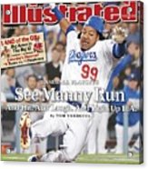 Los Angeles Dodgers Manny Ramirez, 2008 Nl Division Series Sports Illustrated Cover Acrylic Print