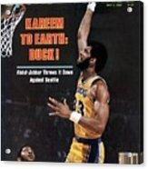 Los Angeles Lakers Kareem Abdul-jabbar, 1980 Nba Western Sports Illustrated Cover Acrylic Print