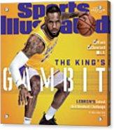 Los Angeles Lakers LeBron James, 2018-19 Nba Basketball Sports Illustrated Cover Acrylic Print