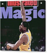 Los Angeles Lakers Magic Johnson, 1990 Nba Western Sports Illustrated Cover Acrylic Print