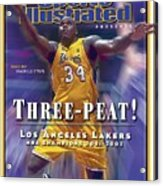 Los Angeles Lakers Shaquille Oneal, 2001 - 2002 Nba Sports Illustrated Cover Acrylic Print