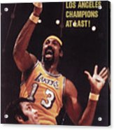 Los Angeles Lakers Wilt Chamberlain, 1972 Nba Finals Sports Illustrated Cover Acrylic Print