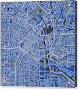 Los Angeles Map Retro 5 Acrylic Print