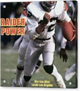 Los Angeles Raiders Marcus Allen... Sports Illustrated Cover Acrylic Print