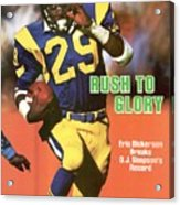 Los Angeles Rams Eric Dickerson... Sports Illustrated Cover Acrylic Print