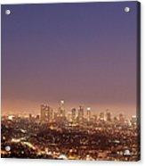 Los Angeles Skyline At Twilight Acrylic Print
