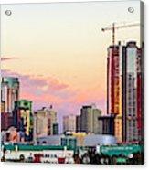 Los Angeles Skyline Sunset - Panorama Acrylic Print