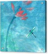 Lotus and dragonfly Acrylic Print