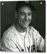 Lou Gehrig Dugout Portrait Acrylic Print