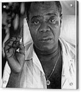 Louis Armstrong Portrait Acrylic Print
