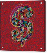 Louis Vuitton Dollar Sign-7 Acrylic Print