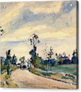 Louveciennes, Road Of Saint-germain - Digital Remastered Edition Acrylic Print