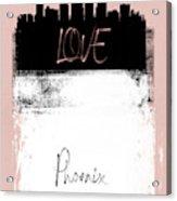Love Phoenix Acrylic Print