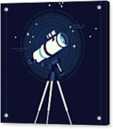 Lovely Vector Background On Astronomy Acrylic Print