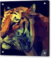 Low Poly Design. Tiger Illustration Acrylic Print