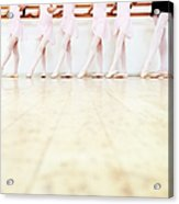 Low Section View Of A Line Of Young Acrylic Print