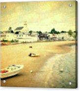 Low Tide Provincetown Cape Cod Massachusetts Shoreline Textured Acrylic Print