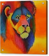 Luminesent Lion  Acrylic Print