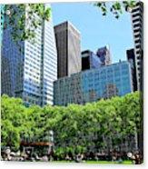 Lunch Break In Manhattan Acrylic Print
