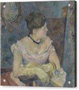 Madame Mette Gauguin In Evening Dress Acrylic Print